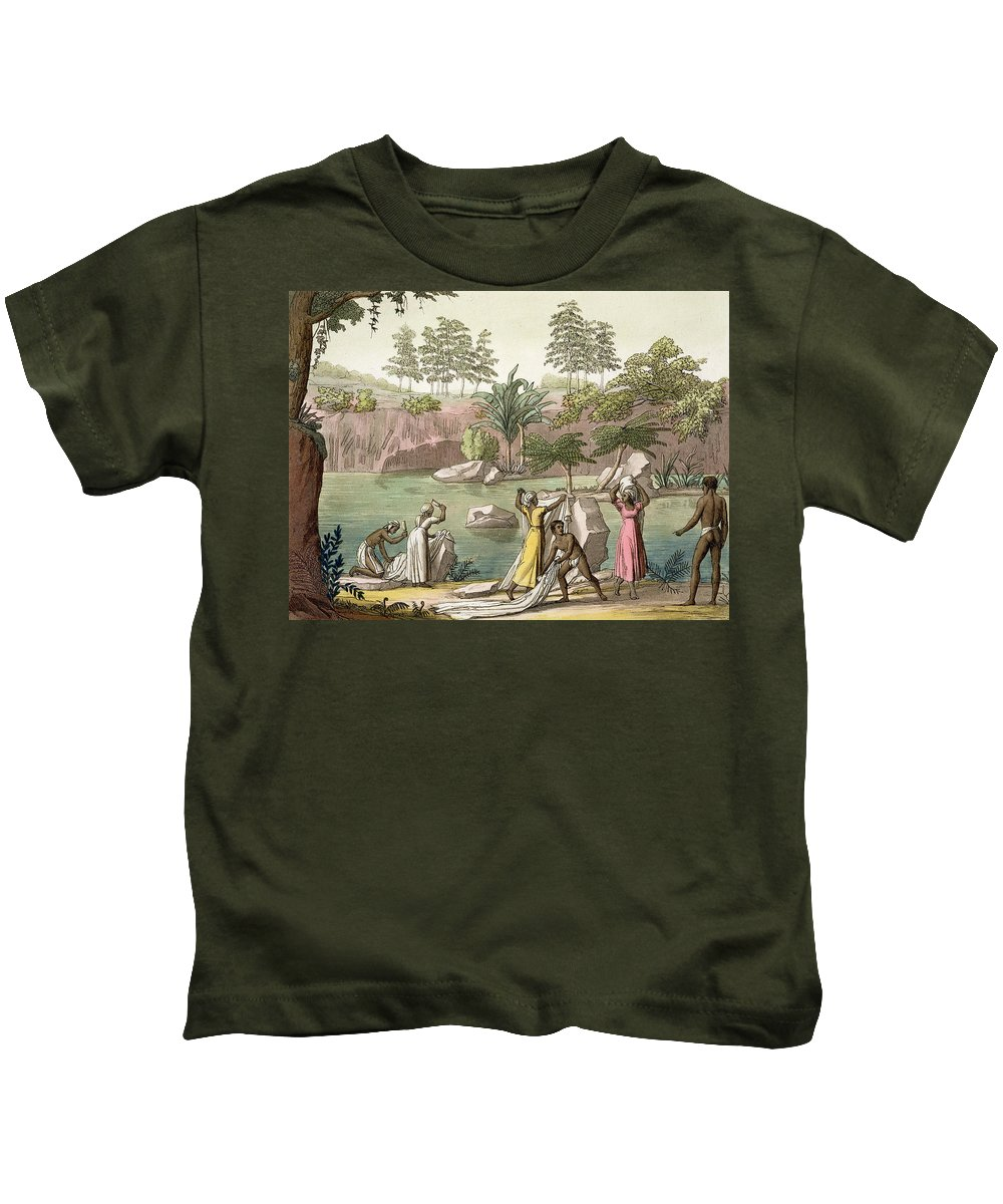 Giulio Kids T-Shirt featuring the drawing River Near San Benedetto, Madagascar by Gallo Gallina
