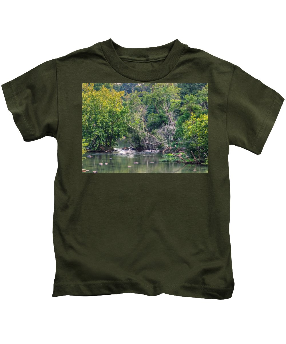 Background Kids T-Shirt featuring the photograph Riverwalk Park by Rob Sellers