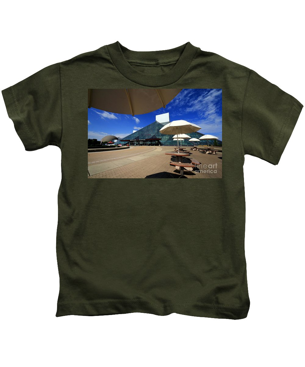 Hall Of Fame Kids T-Shirt featuring the photograph Rock On 2 by Robert McCubbin
