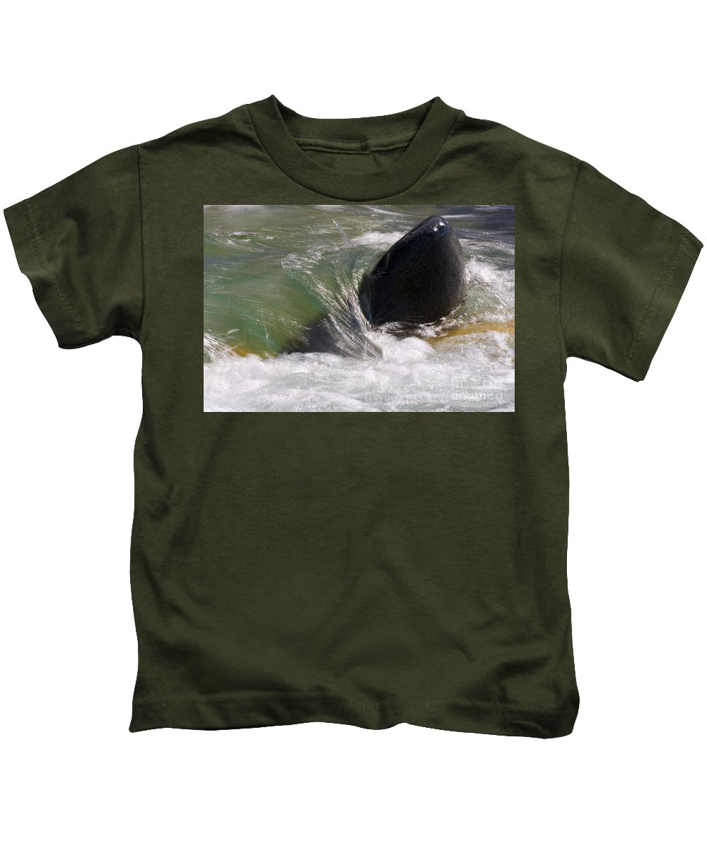 Heiko Kids T-Shirt featuring the photograph Rock The River by Heiko Koehrer-Wagner