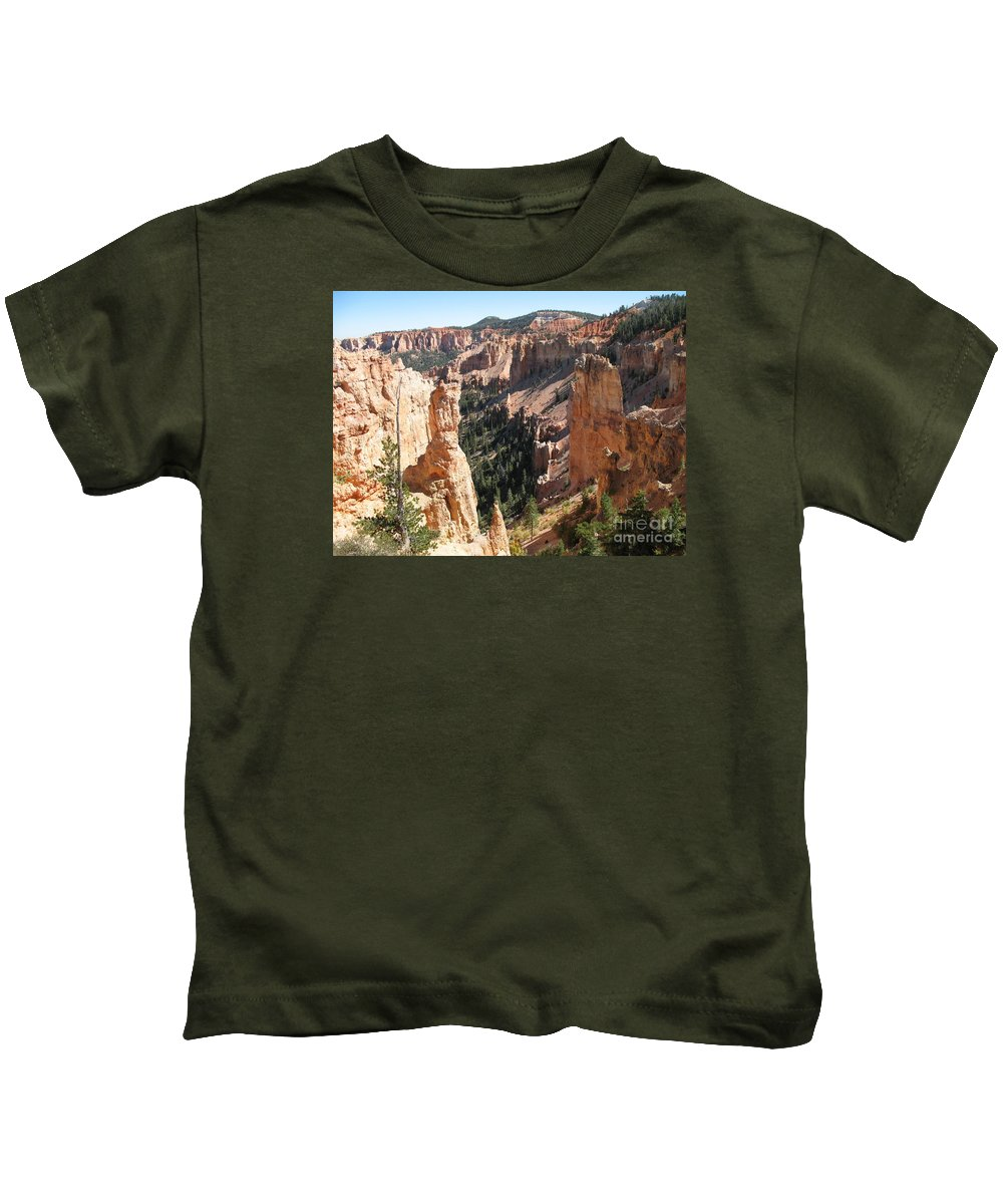 Canyon Kids T-Shirt featuring the photograph Rockformation At Bryce Canyon by Christiane Schulze Art And Photography