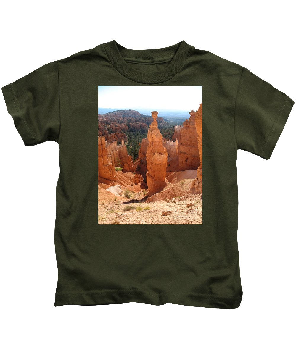 Rocks Kids T-Shirt featuring the photograph Rockformation Bryce Canyon by Christiane Schulze Art And Photography