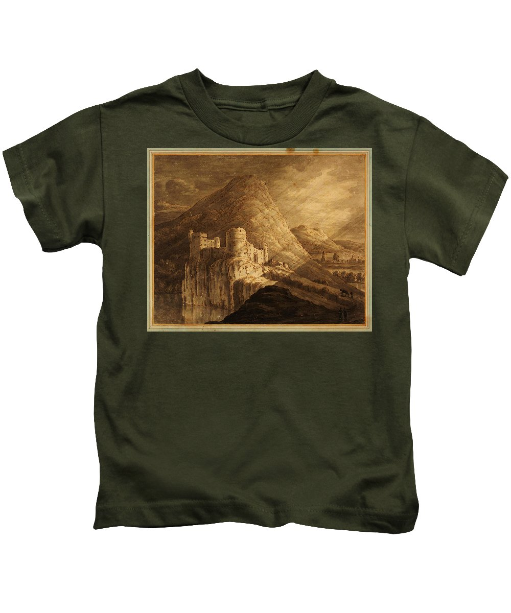 Robert Adamromantic Castle Kids T-Shirt featuring the painting Romantic Castle by Celestial Images