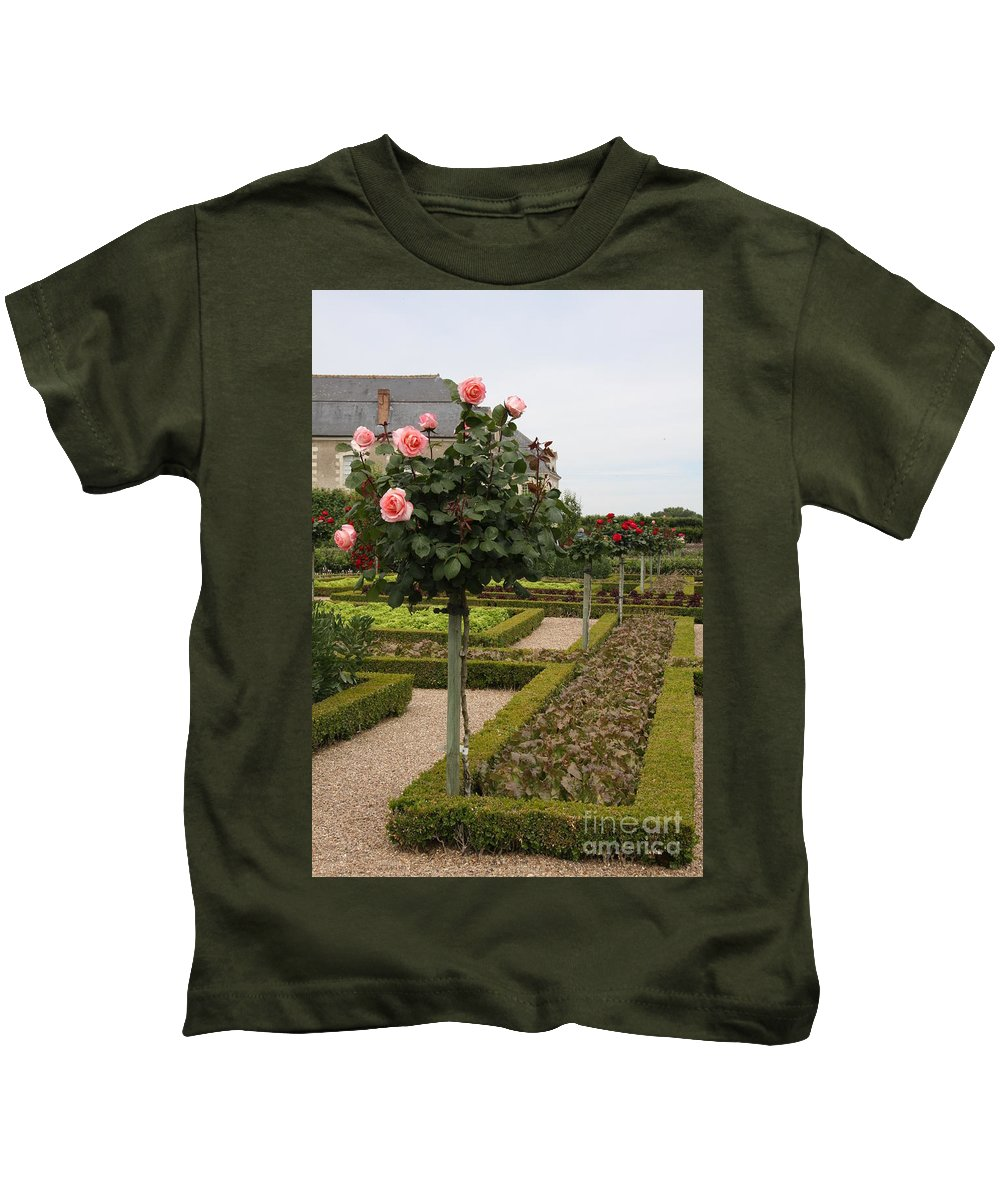 Roses Kids T-Shirt featuring the photograph Roses And Salad - Chateau Villandry by Christiane Schulze Art And Photography