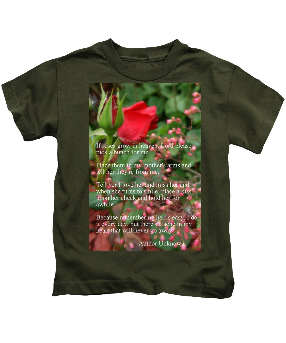 Red Roses Kids T-Shirt featuring the photograph Roses In Heaven by Kay Novy
