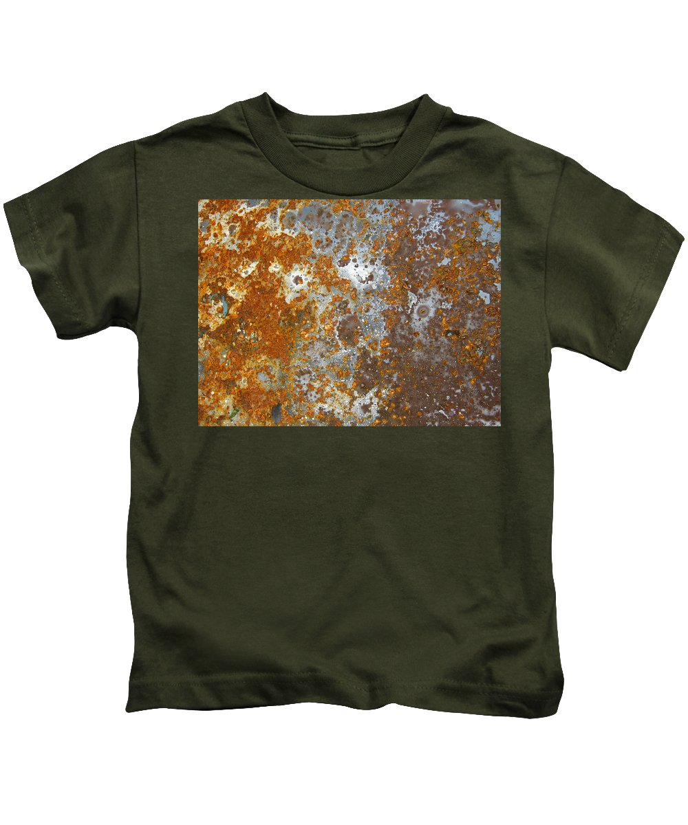 Surface Kids T-Shirt featuring the photograph Rust Never Sleeps by Les Cunliffe