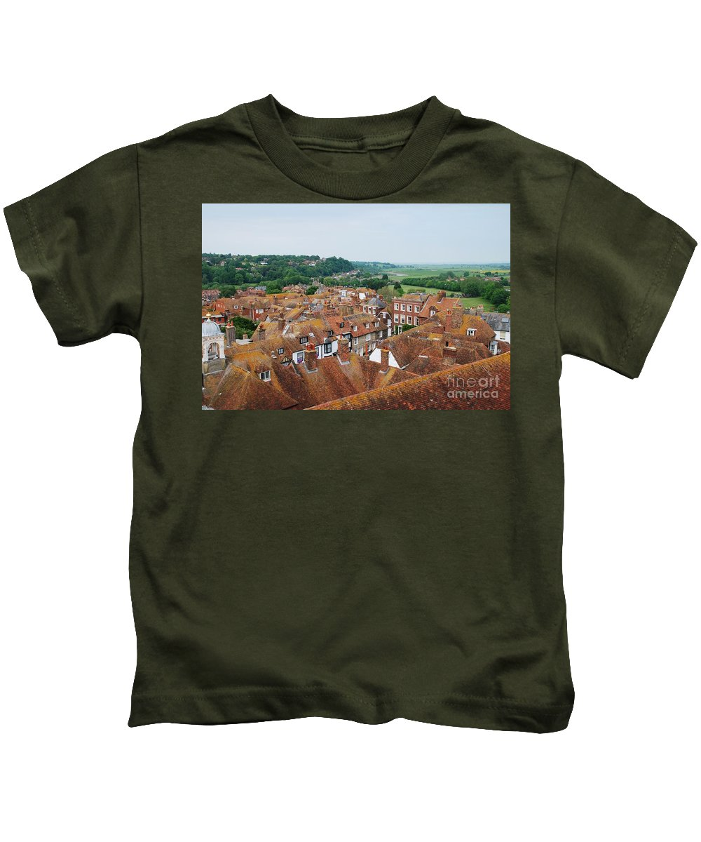 Rye Kids T-Shirt featuring the photograph Rye Town Roofs by David Fowler