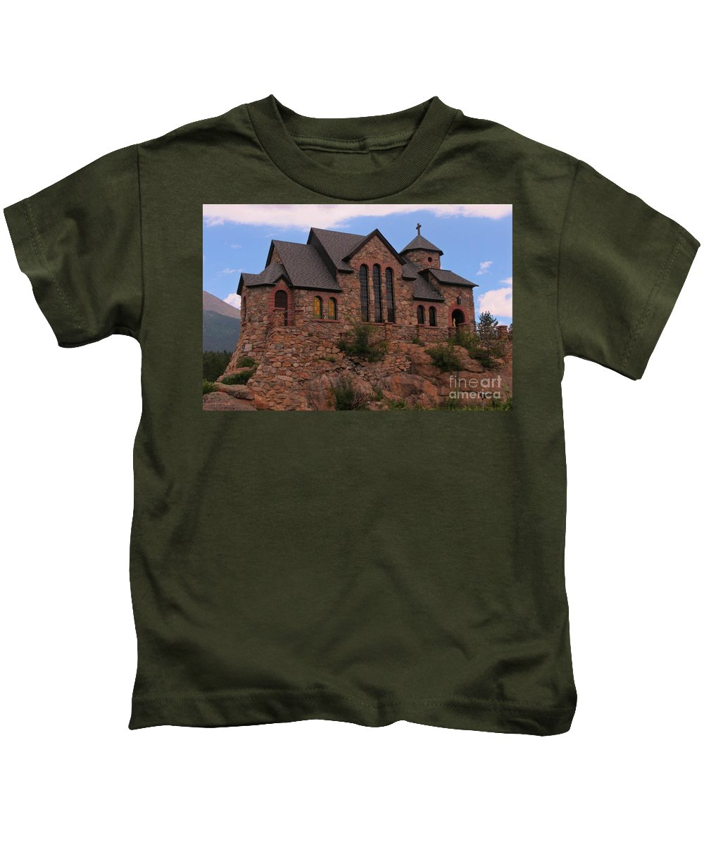 Church Art Kids T-Shirt featuring the photograph Saint Catherine Of Siena Chapel by John Malone