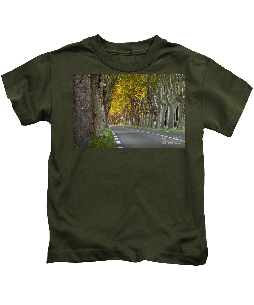 Tree Kids T-Shirt featuring the photograph Saint Remy Trees by Brian Jannsen