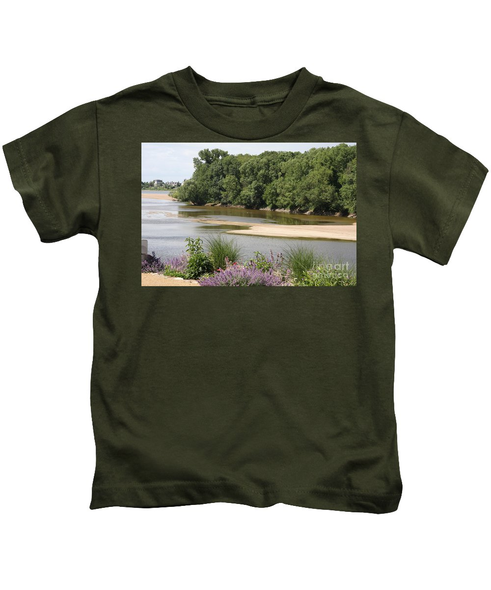 River Kids T-Shirt featuring the photograph Sandbanks In The River by Christiane Schulze Art And Photography