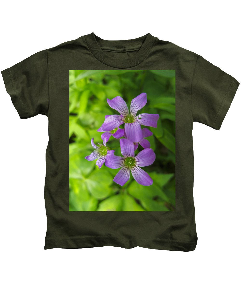 Athens Kids T-Shirt featuring the photograph Sandy Creek Wildflowers by Steve Samples