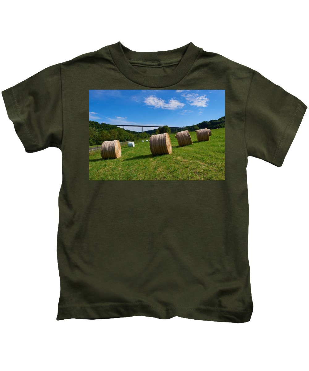 Lehto Kids T-Shirt featuring the photograph Sauertalbrucke by Jouko Lehto