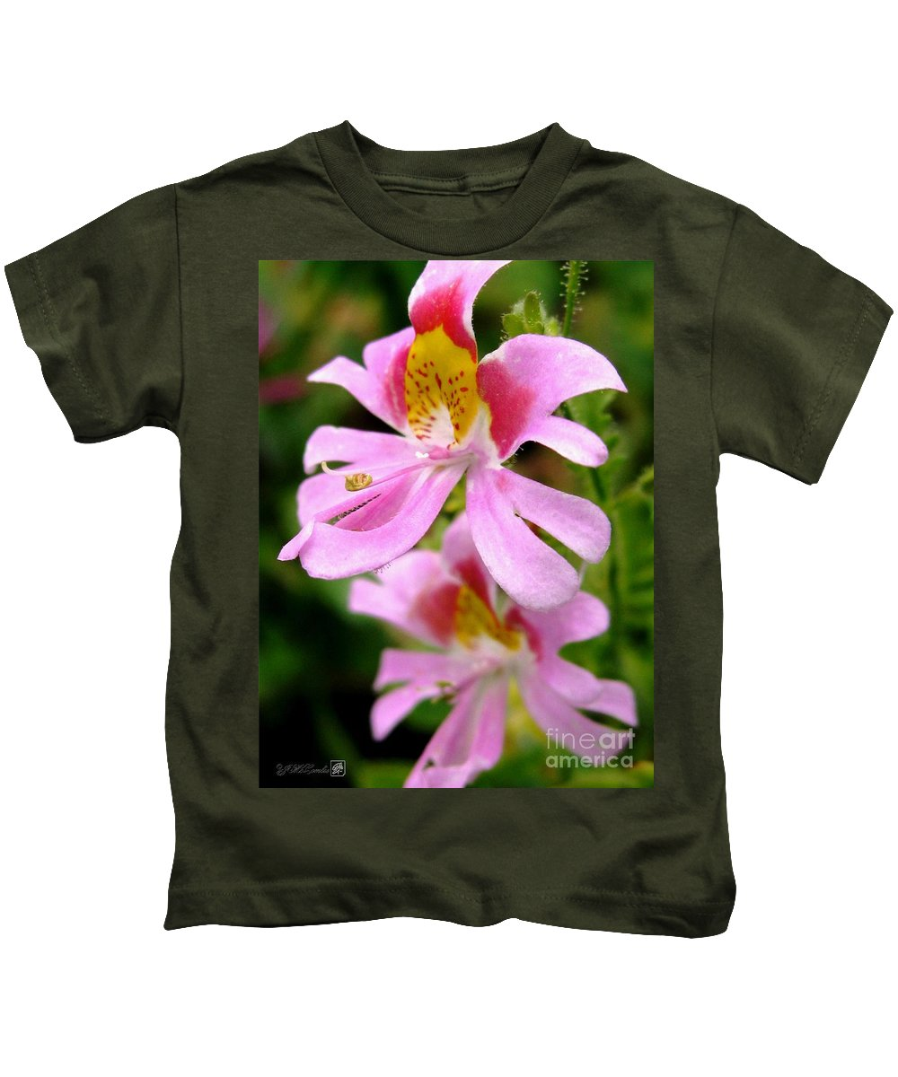 Mccombie Kids T-Shirt featuring the photograph Schizanthus Named Angel Wings by J McCombie