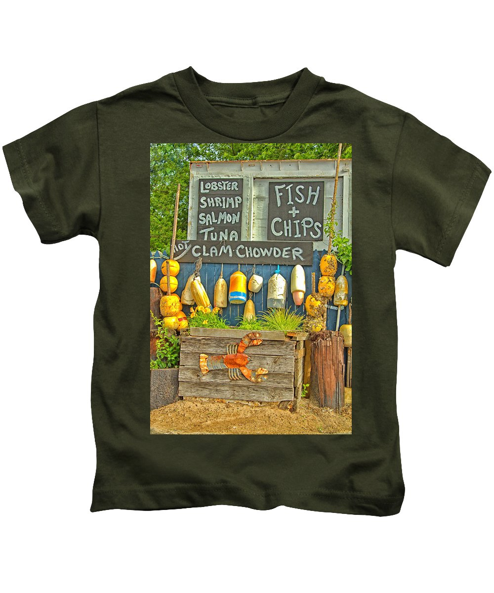 Nautical Kids T-Shirt featuring the photograph Sea Food by Karol Livote
