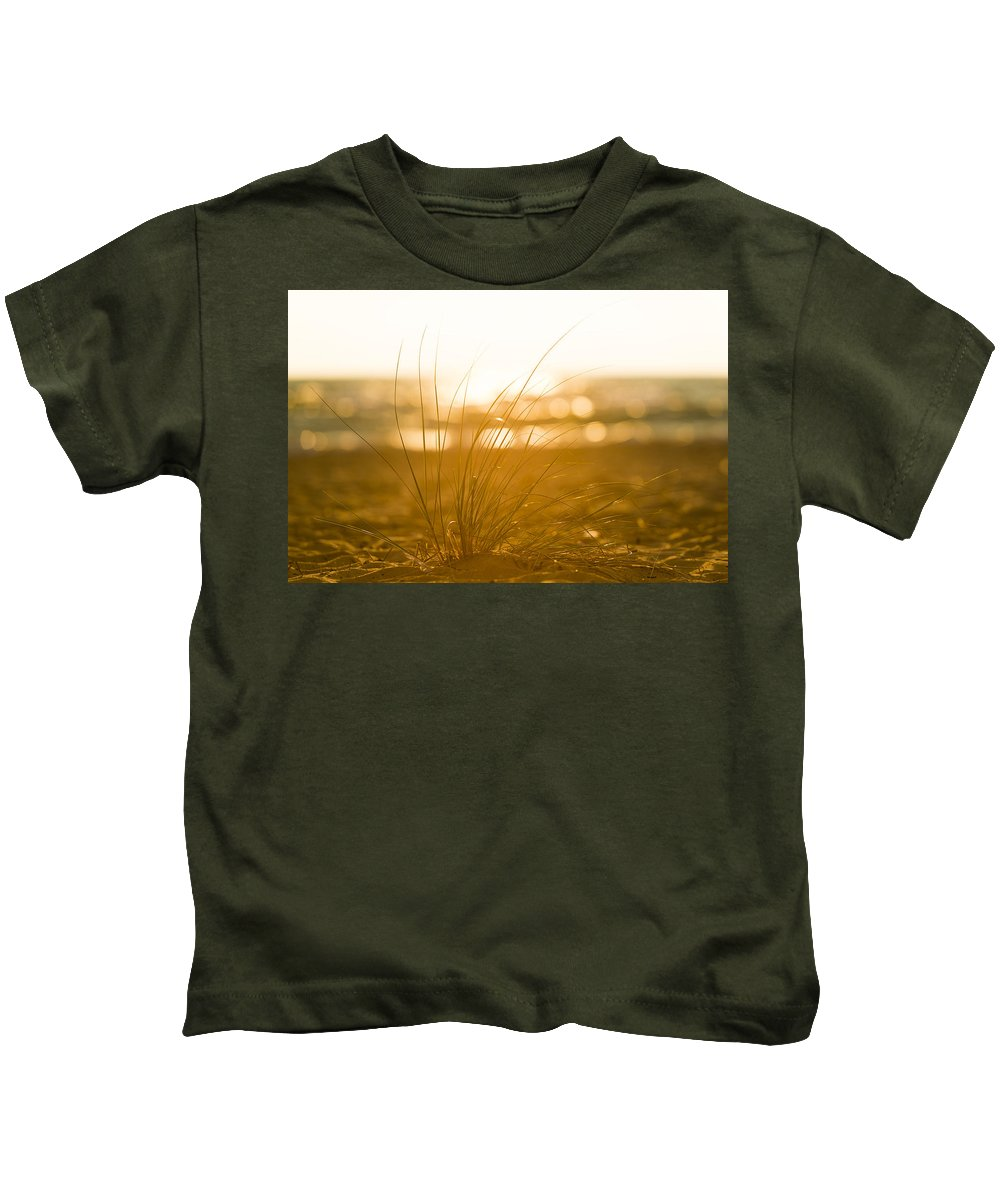 Michigan Kids T-Shirt featuring the photograph Sea Oats Sunset by Sebastian Musial