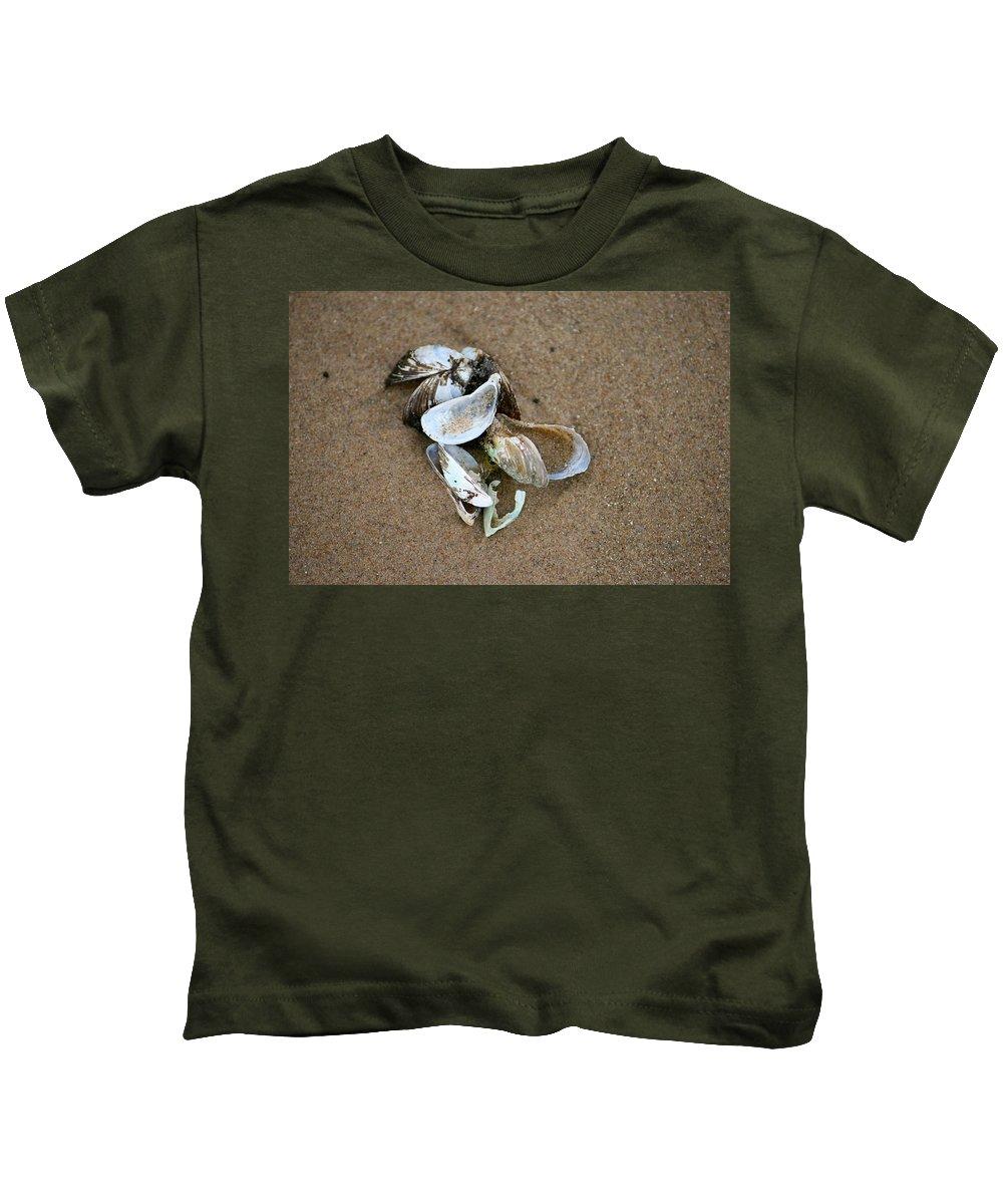 Seashells Kids T-Shirt featuring the photograph Seashells by Debbie Nobile