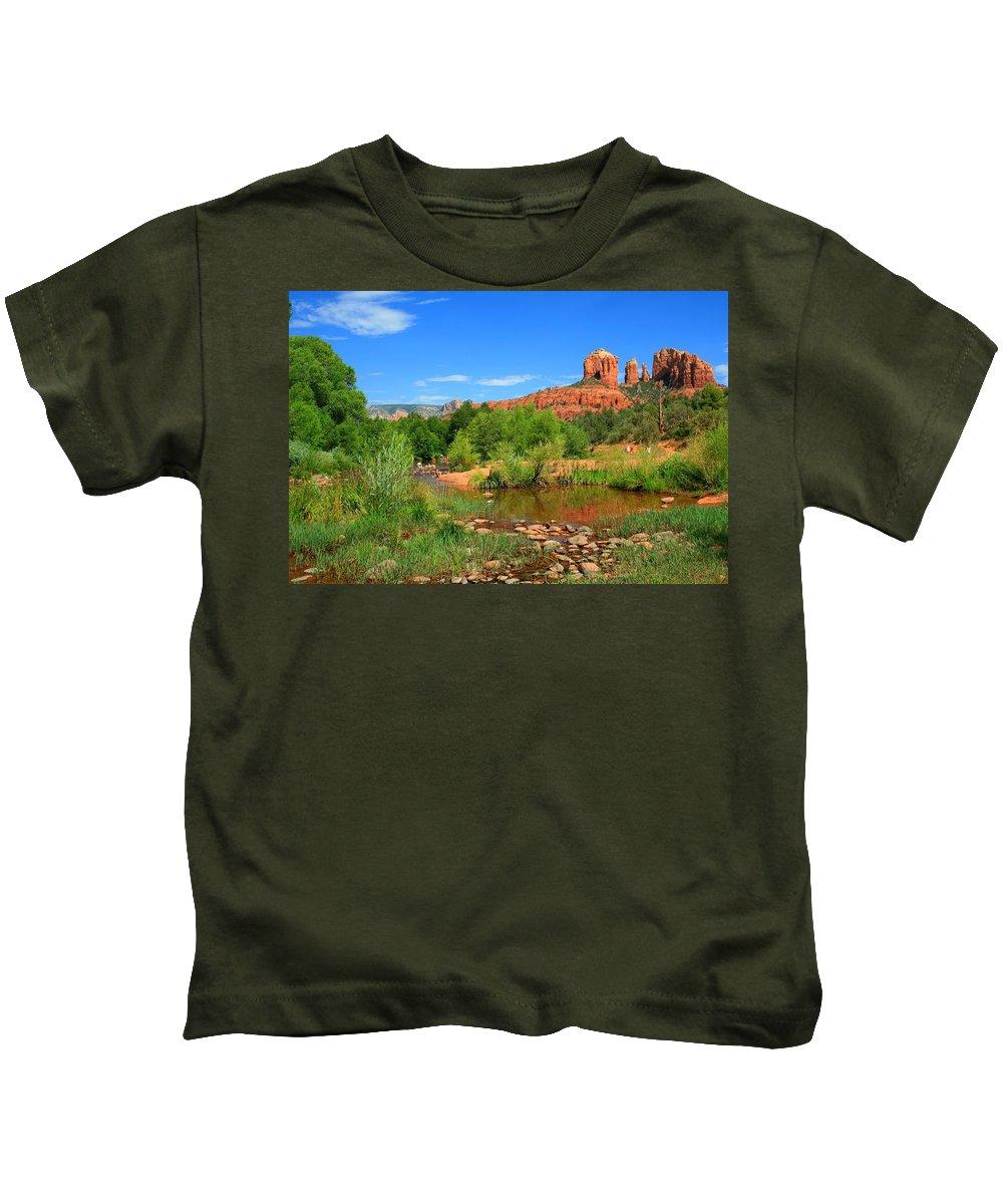 Arizona Kids T-Shirt featuring the photograph Sedona Summer by Miles Stites