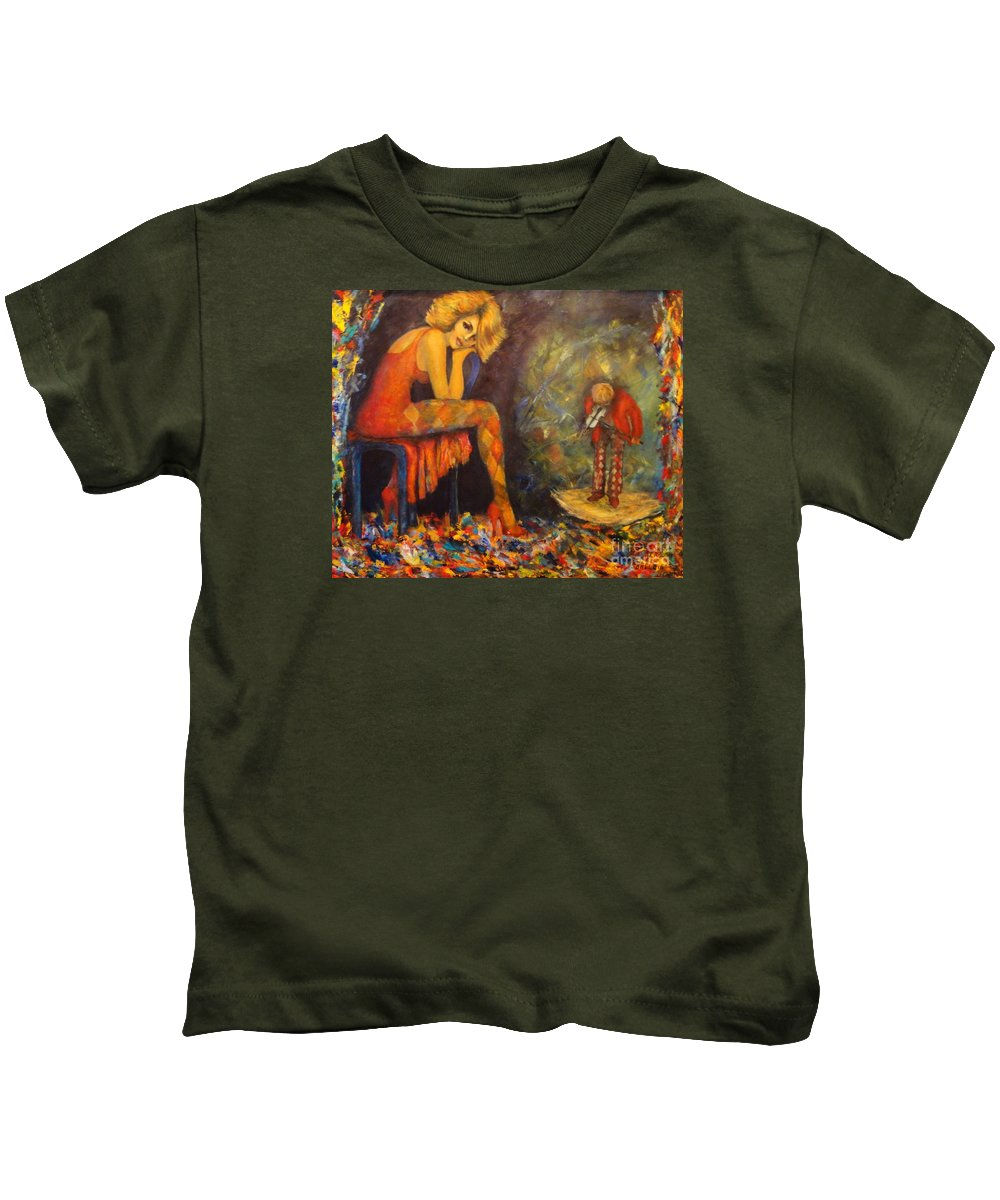 Joker Kids T-Shirt featuring the painting Sonata by Dagmar Helbig
