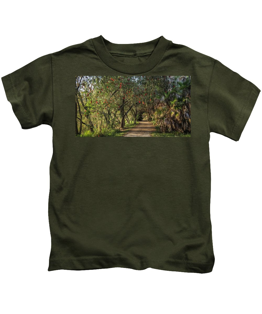 Florida Kids T-Shirt featuring the photograph Shady Path by Jane Luxton