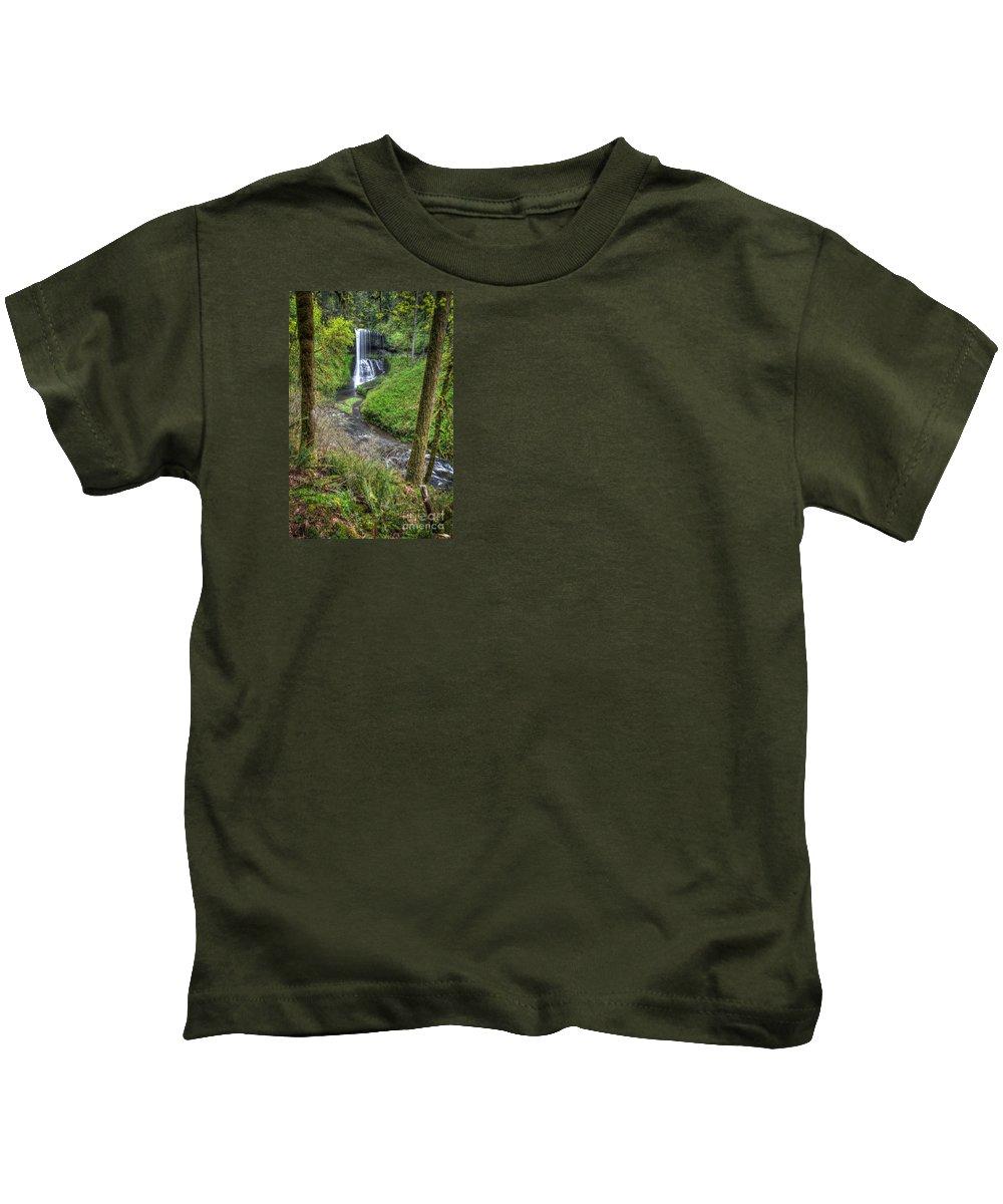 Silver Falls Kids T-Shirt featuring the photograph Silver Falls Oregon by Matt Hoffmann