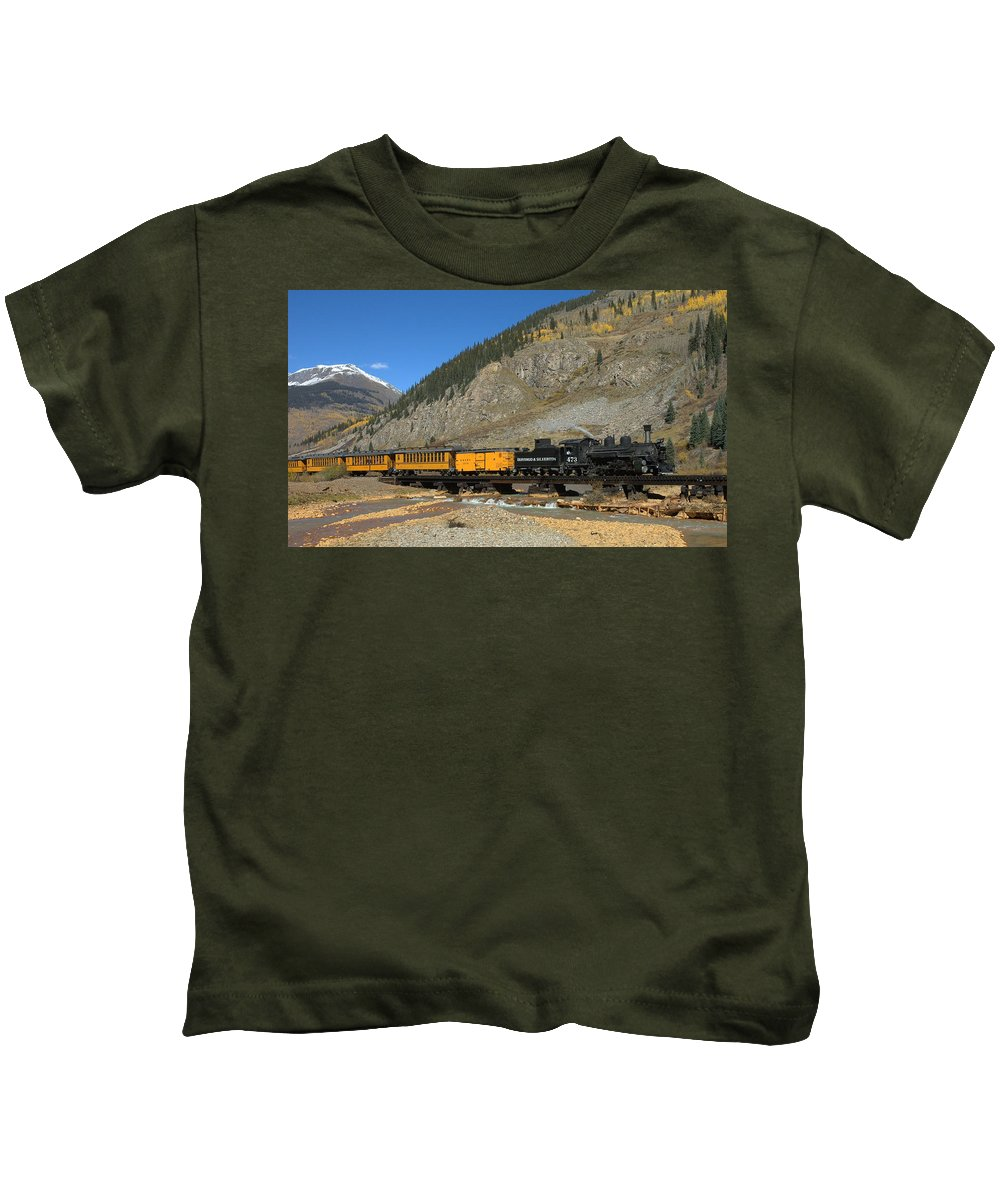 Durango Kids T-Shirt featuring the photograph Silverton Train by Jerry McElroy