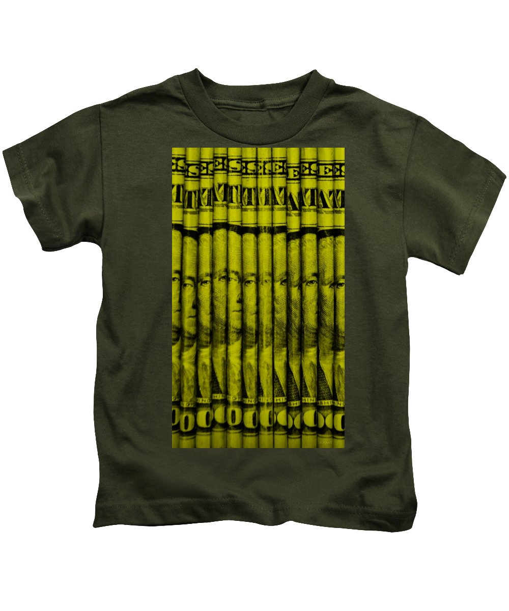 Money Kids T-Shirt featuring the photograph Singles In Yellow by Rob Hans