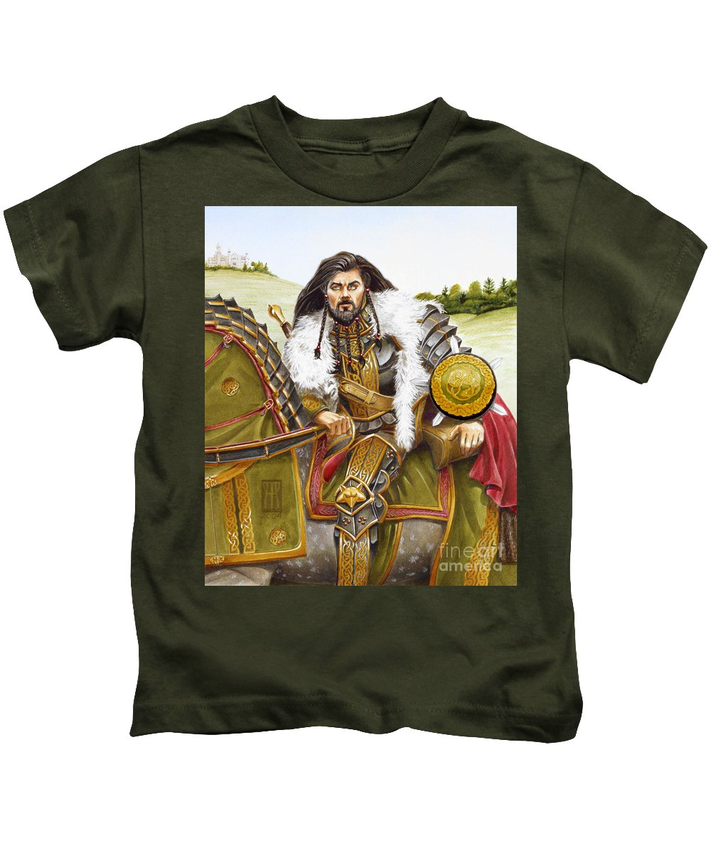 Fine Art Kids T-Shirt featuring the painting Sir Marhaus by Melissa A Benson
