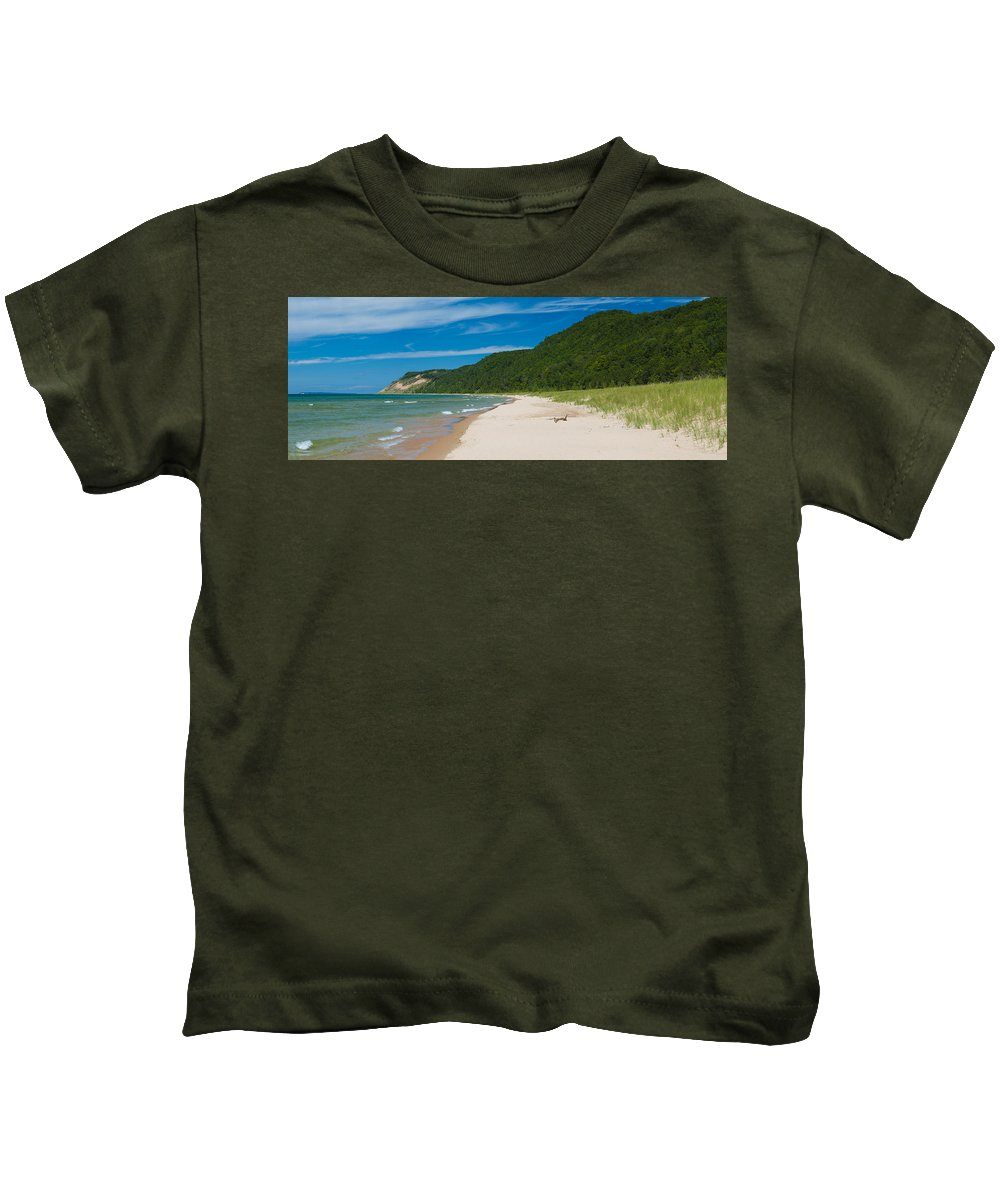 Clouds Kids T-Shirt featuring the photograph Sleeping Bear Dunes National Lakeshore by Sebastian Musial