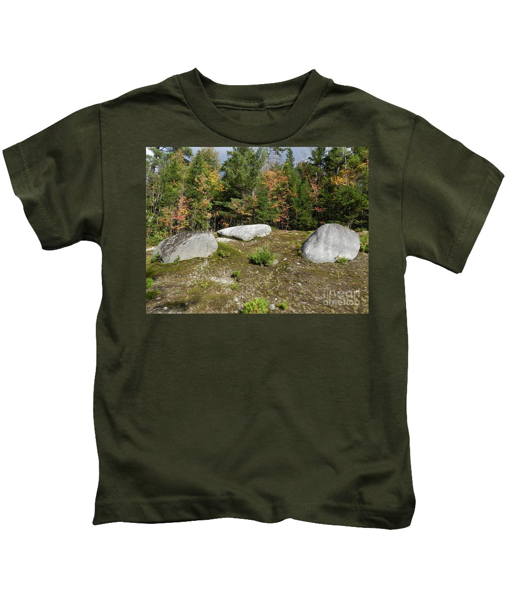Rocks Big And Small Kids T-Shirt featuring the photograph Solid by Jeffery L Bowers
