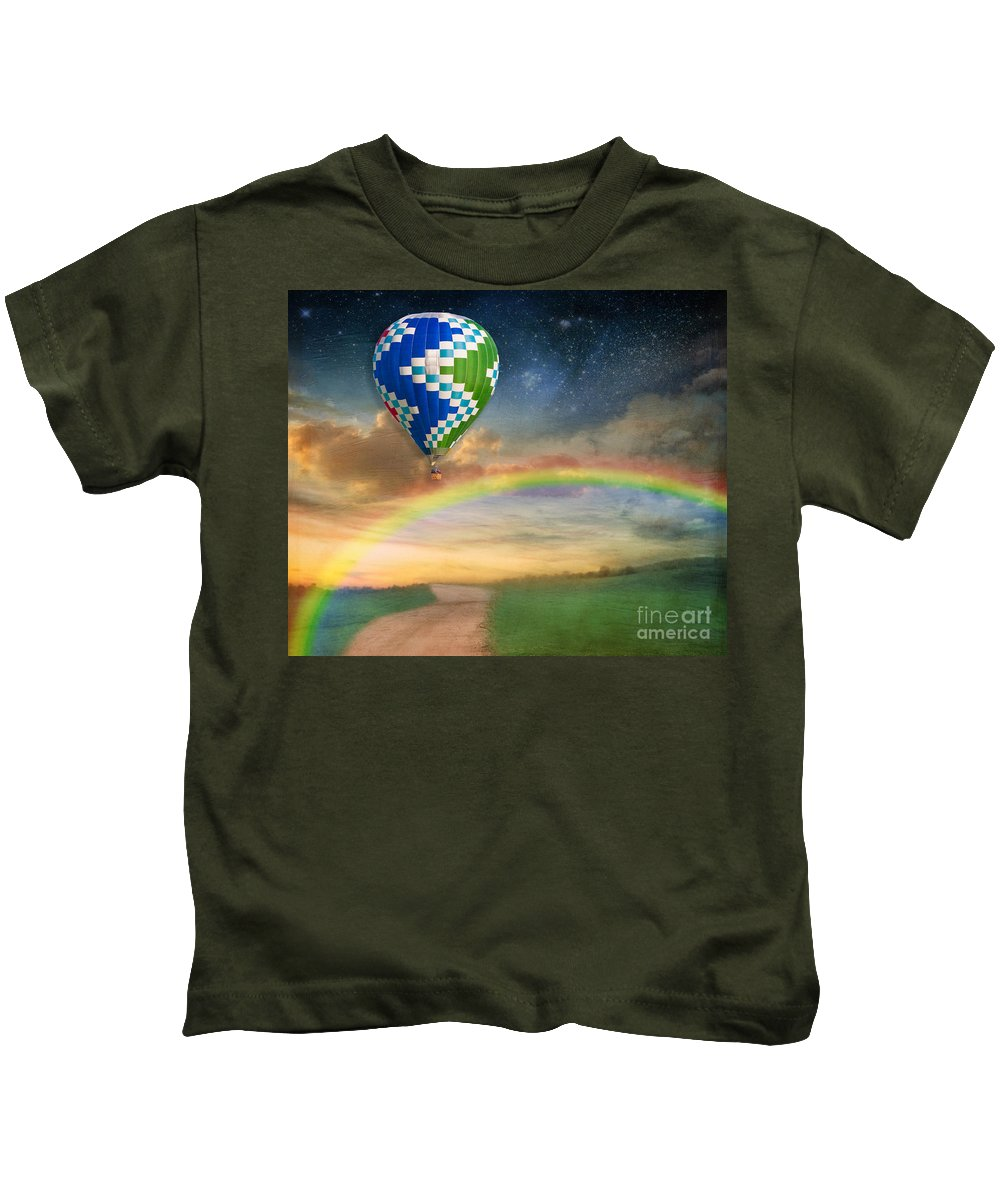 Air Kids T-Shirt featuring the photograph Somewhere Over The Rainbow by Juli Scalzi