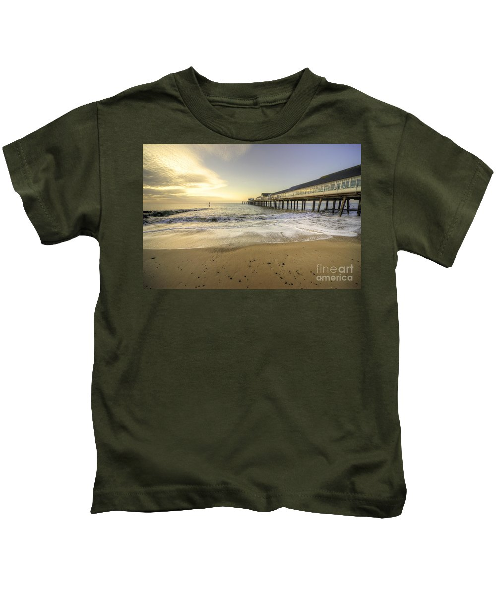 Southwold Kids T-Shirt featuring the photograph Southwold Pier by Rob Hawkins