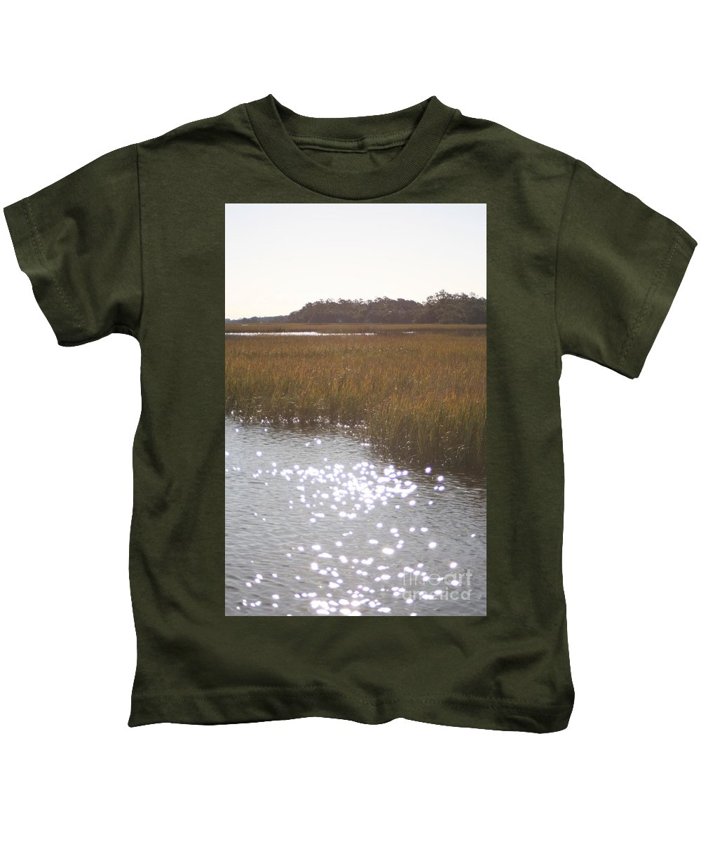 Marsh Kids T-Shirt featuring the photograph Sparkling Marsh by Nadine Rippelmeyer