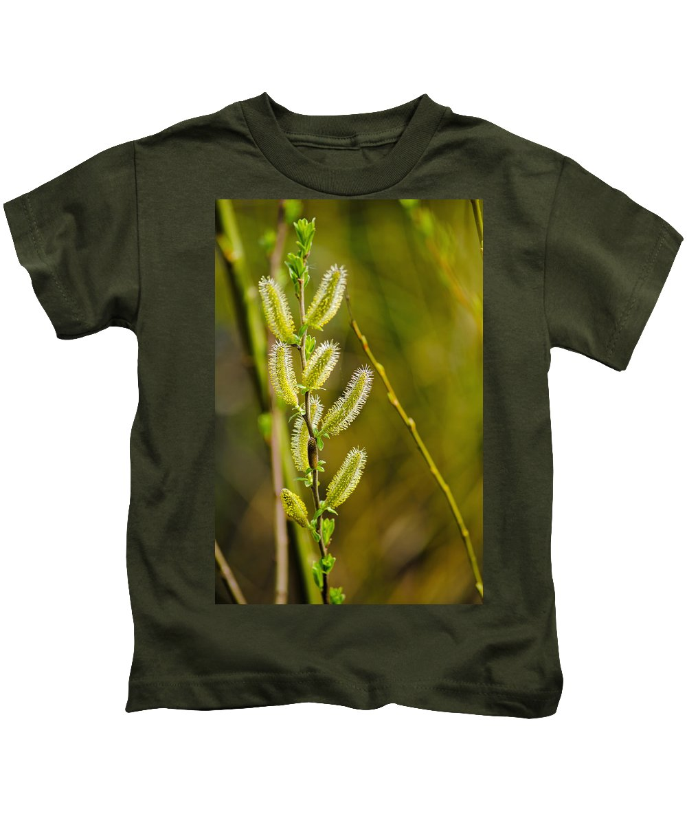 Twig Kids T-Shirt featuring the photograph Spiky Green Plant by Tikvah's Hope