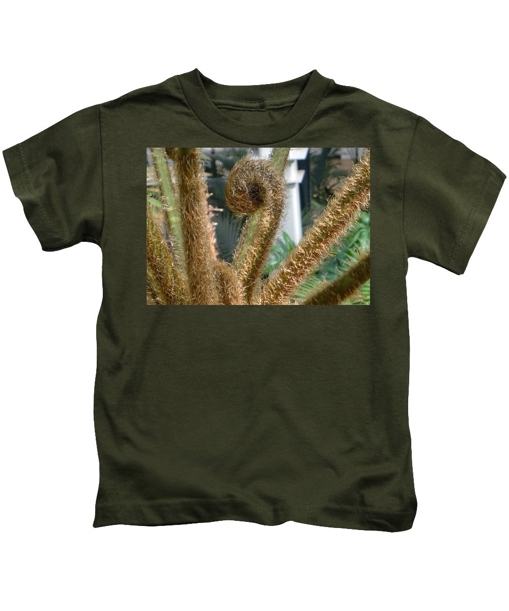 Plant Kids T-Shirt featuring the photograph Spiral Plant by Denise Mazzocco