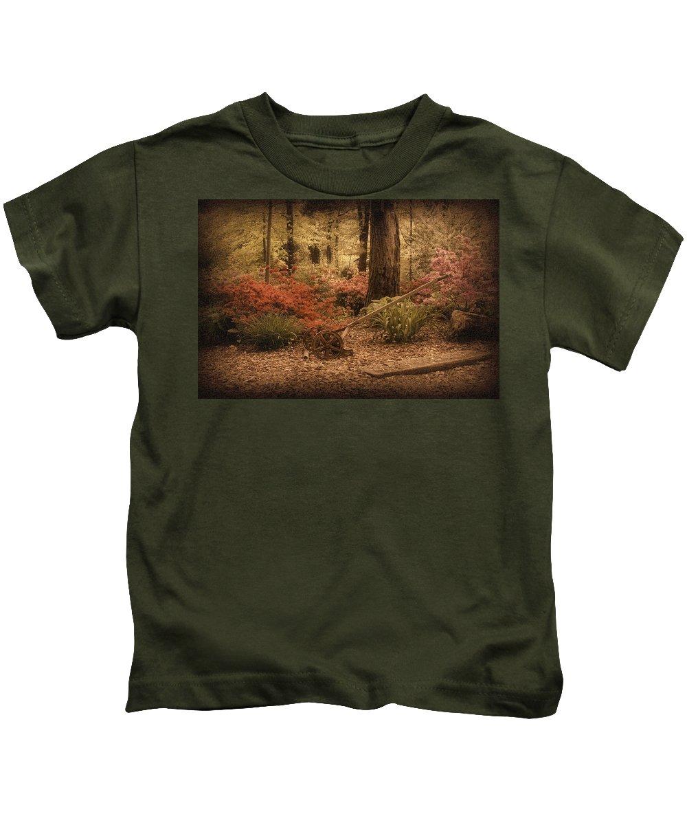 Lawn Mower Kids T-Shirt featuring the photograph Spring Garden by Sandy Keeton