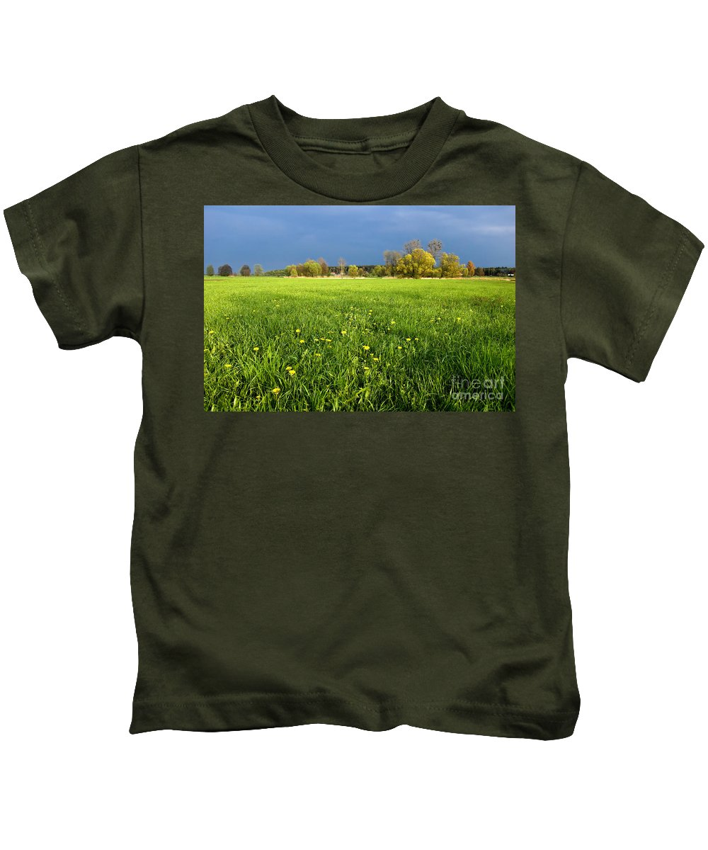 Blue Kids T-Shirt featuring the photograph Spring Scenery by Michal Bednarek