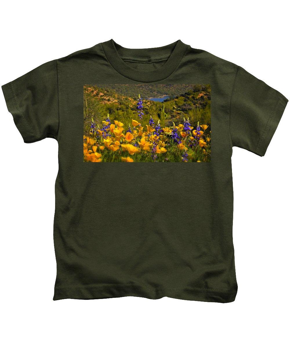 Poppies Kids T-Shirt featuring the photograph Spring Southwest Style by Saija Lehtonen