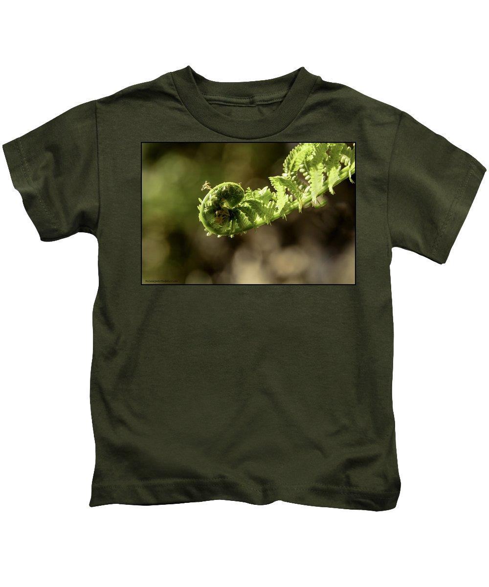 Usa Kids T-Shirt featuring the photograph Spring Unfurled Fiddlehead by LeeAnn McLaneGoetz McLaneGoetzStudioLLCcom