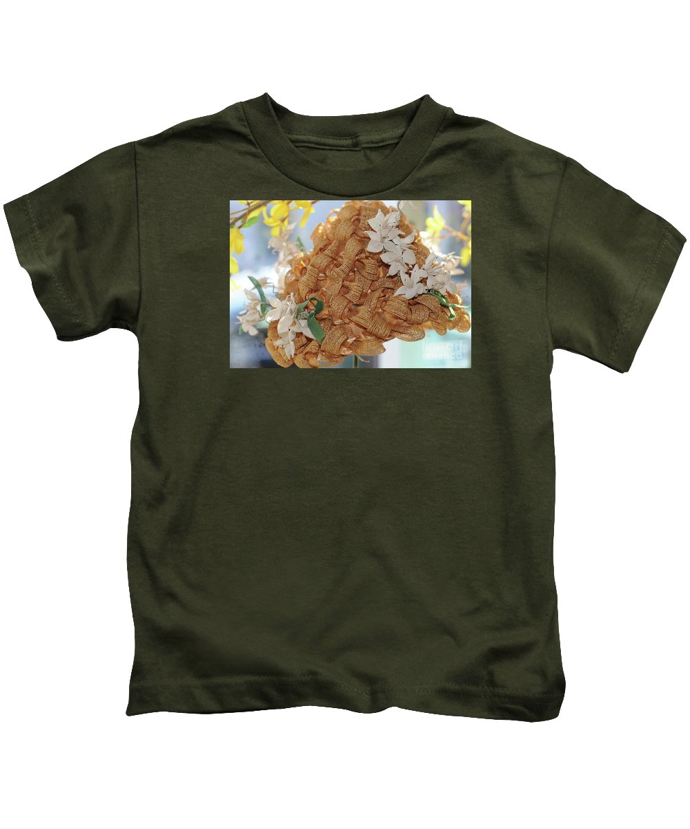 #hat #spring #summer Kids T-Shirt featuring the photograph Spring Vintage Hat by Kathleen Struckle