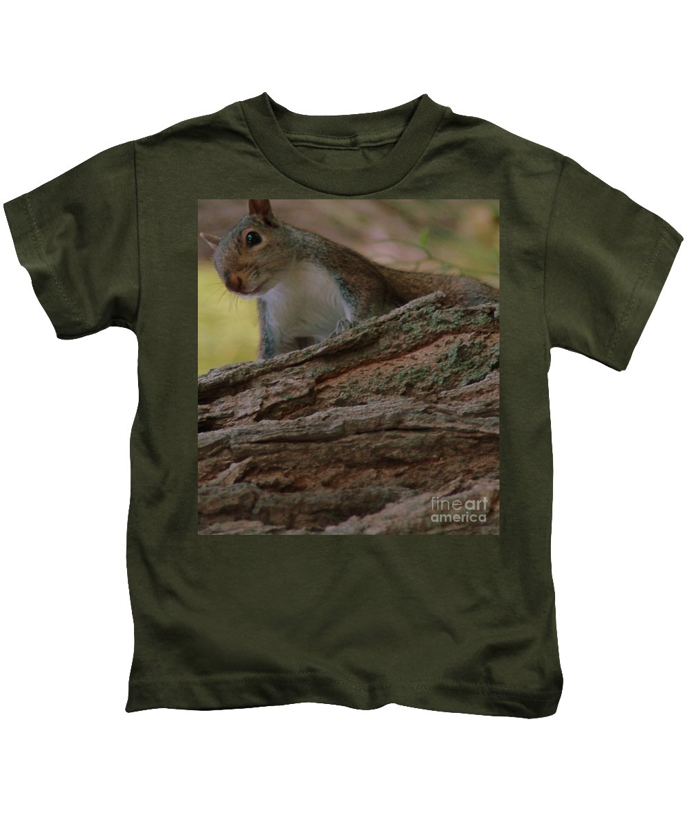 Squirrel Kids T-Shirt featuring the photograph Squirrel by Kathleen Struckle