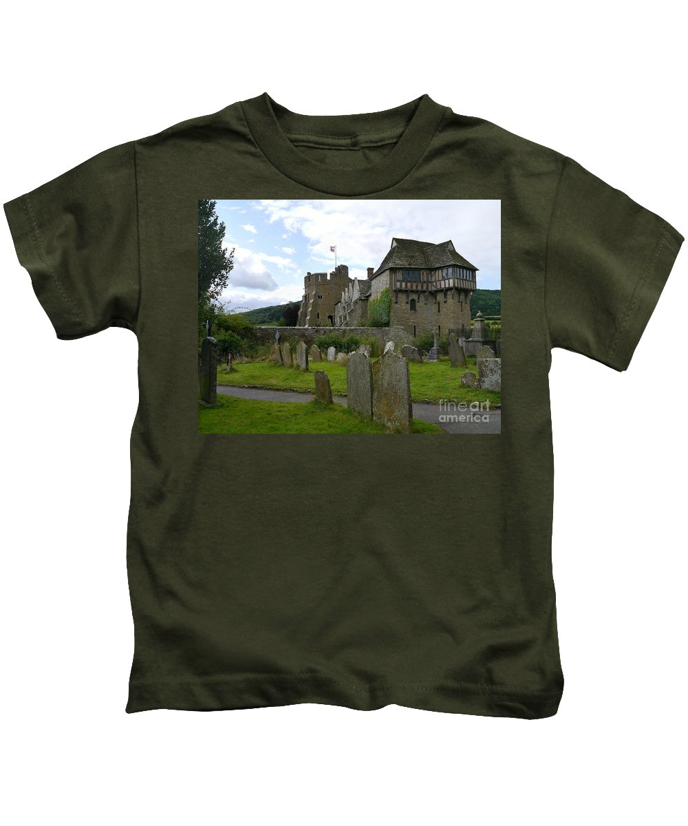 Castle Kids T-Shirt featuring the photograph Stokesay Castle 2 by John Chatterley