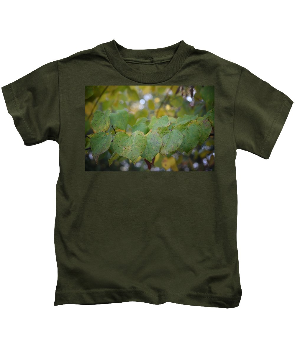 Stranded Hearts Of Autumn Kids T-Shirt featuring the photograph Stranded Hearts Of Autumn by Maria Urso
