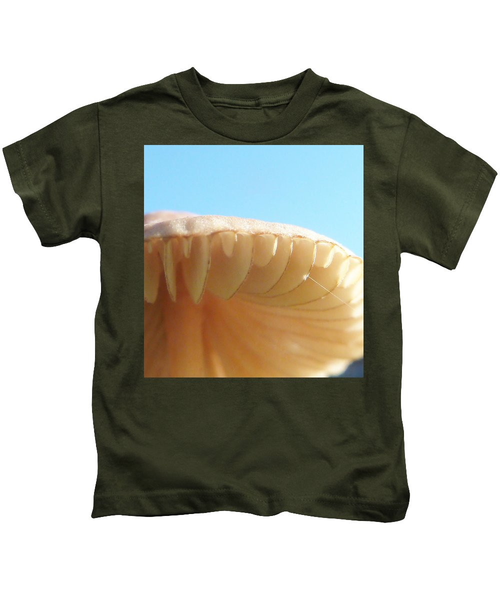 Toadstool Kids T-Shirt featuring the photograph String Theory by Steve Taylor
