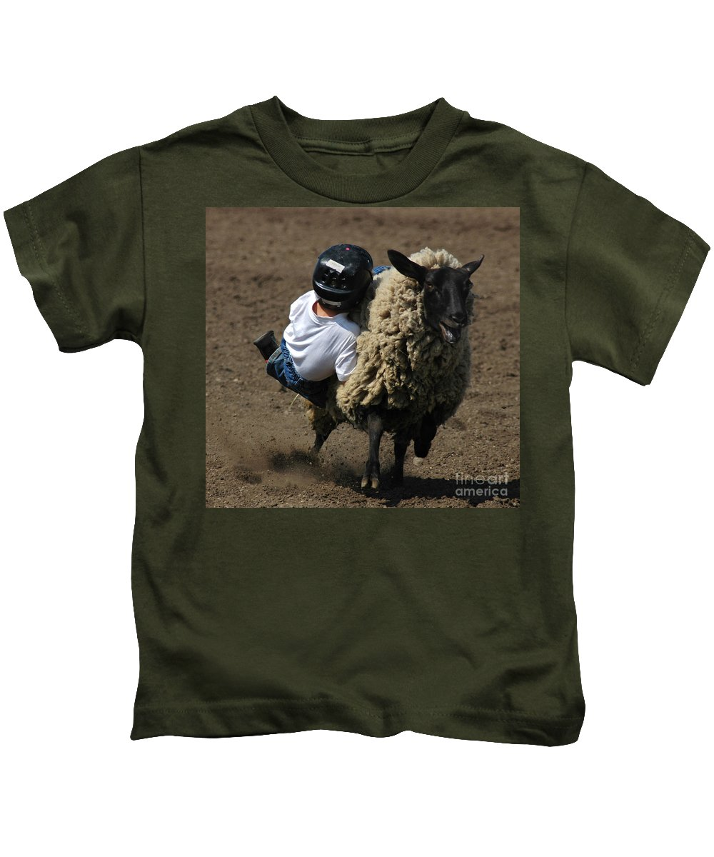 Rodeo Kids T-Shirt featuring the photograph Stuck Like Velcro by Vivian Christopher
