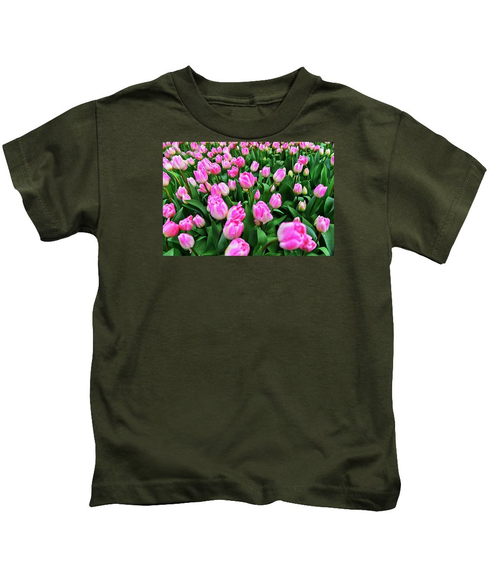 Travel Kids T-Shirt featuring the photograph Study In Pink by Elvis Vaughn