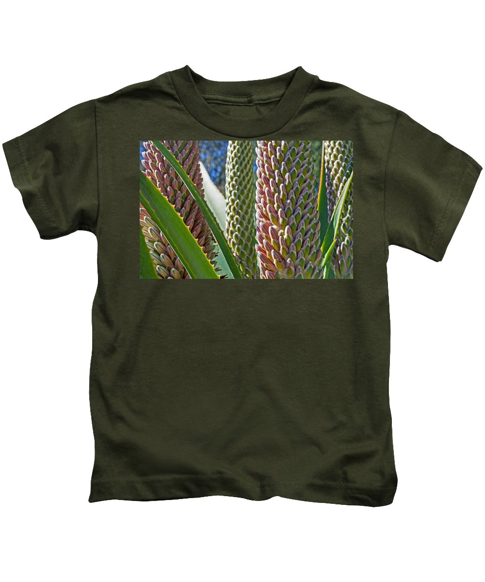 Succulents Kids T-Shirt featuring the photograph Succulents IIi by Angie Schutt
