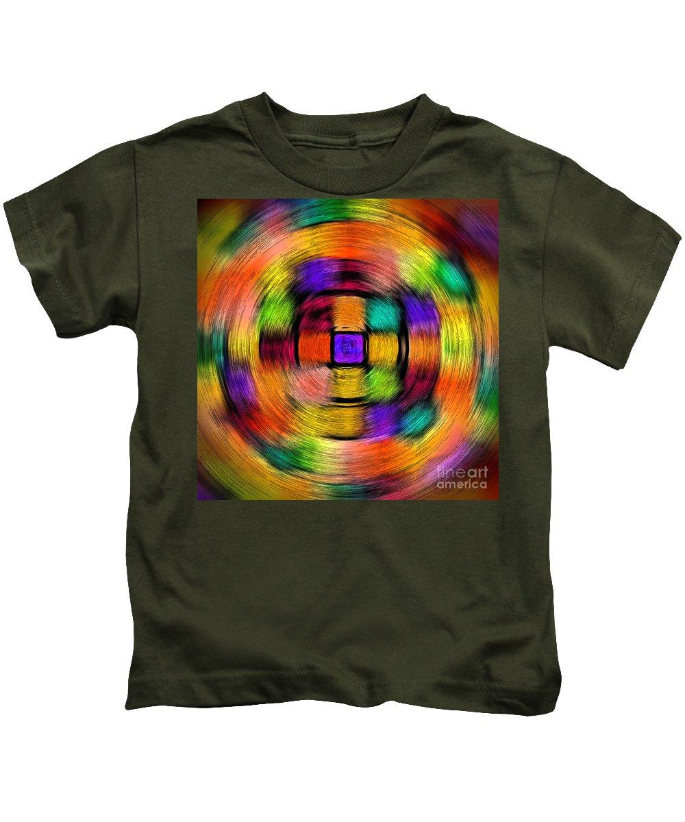 Red Kids T-Shirt featuring the photograph Sudoku Spin by Karen Adams