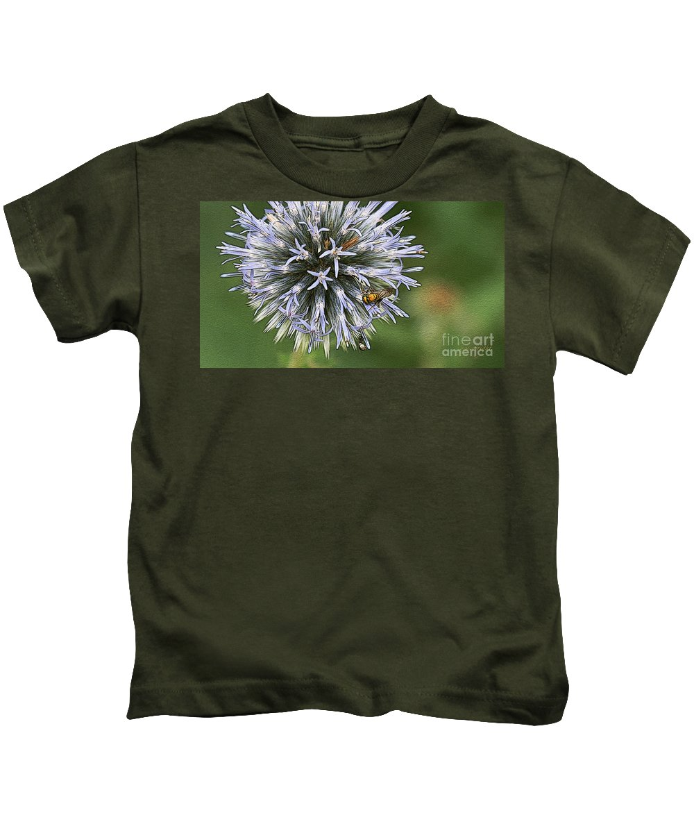 Flowers Kids T-Shirt featuring the photograph Summer Hue by Yvonne Wright