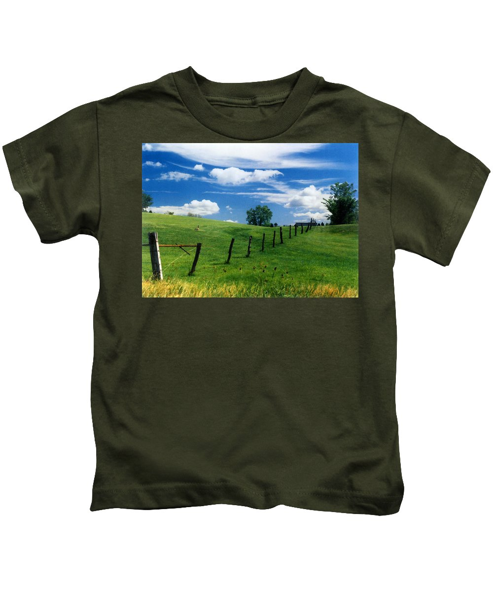 Summer Landscape Kids T-Shirt featuring the photograph Summer Landscape by Steve Karol