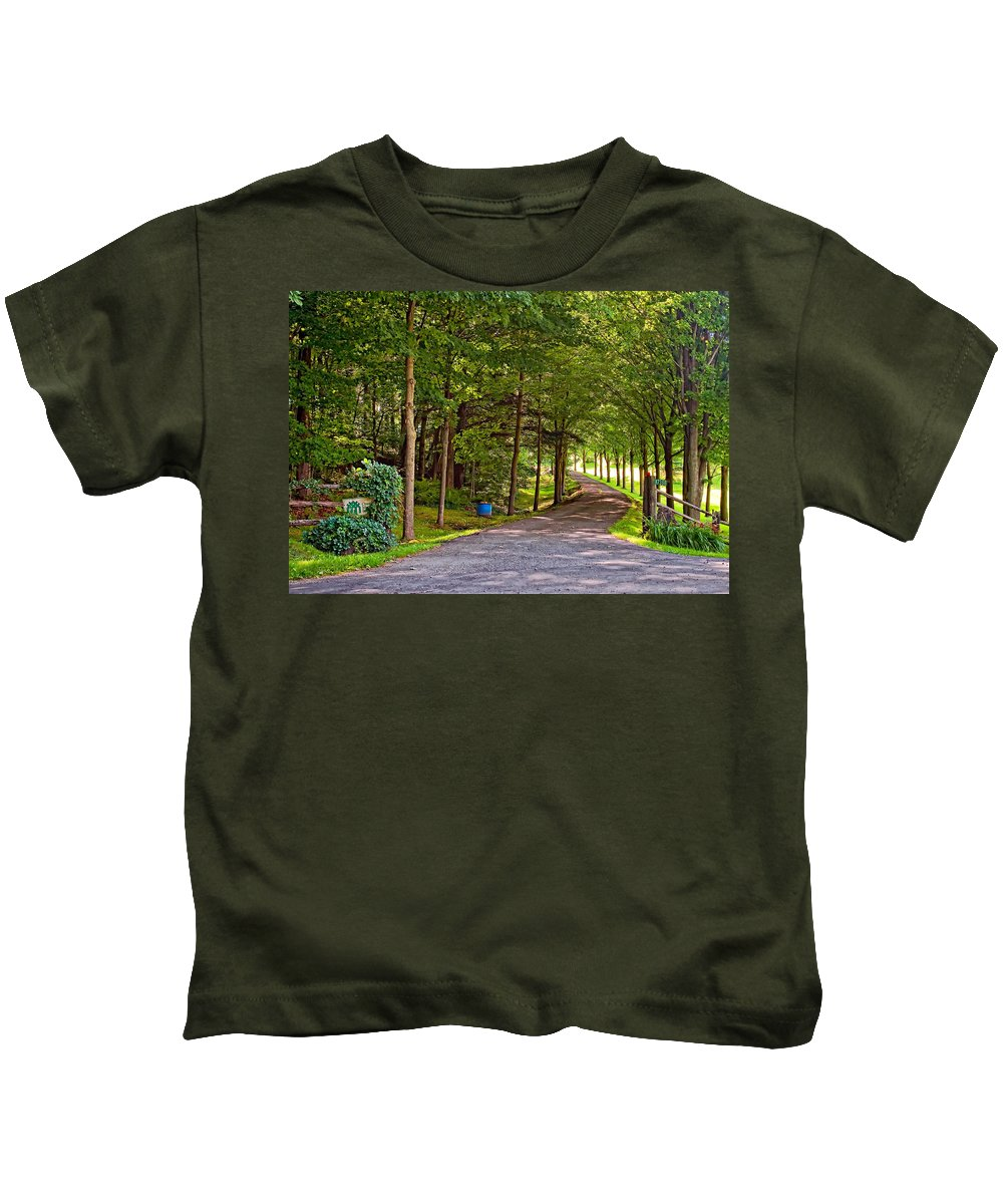 Country Kids T-Shirt featuring the photograph Summer Lane by Steve Harrington